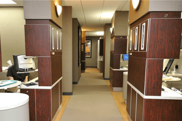 hallway of Bellaire Dental Group, Houston, TX
